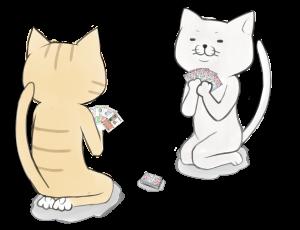 カード5枚 白&トラ