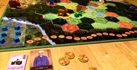 ゲーム中盤。植樹を重視した戦略。
