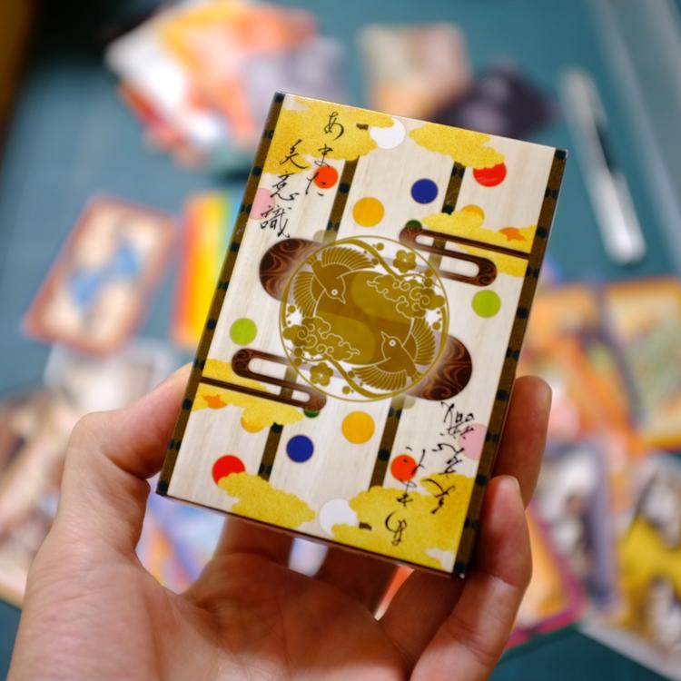 ゲームマーケット2020春「あまた美意識」とは、16の美意識と30の伝統色が織りなす、日本の美意識心得カードゲームの試作です。ゲムマ新作おすすめ