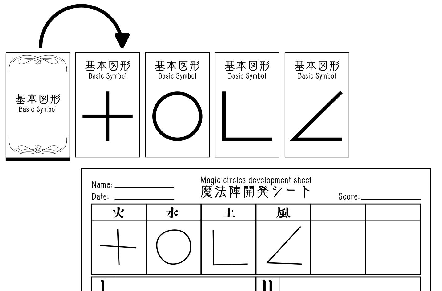 基本図形記入例