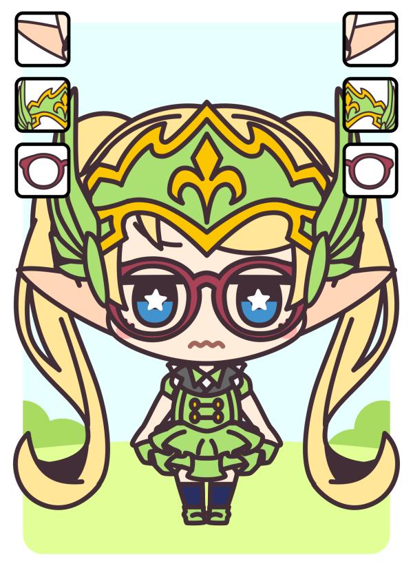 キャラクターカード:尖耳族・戦士・メガネ