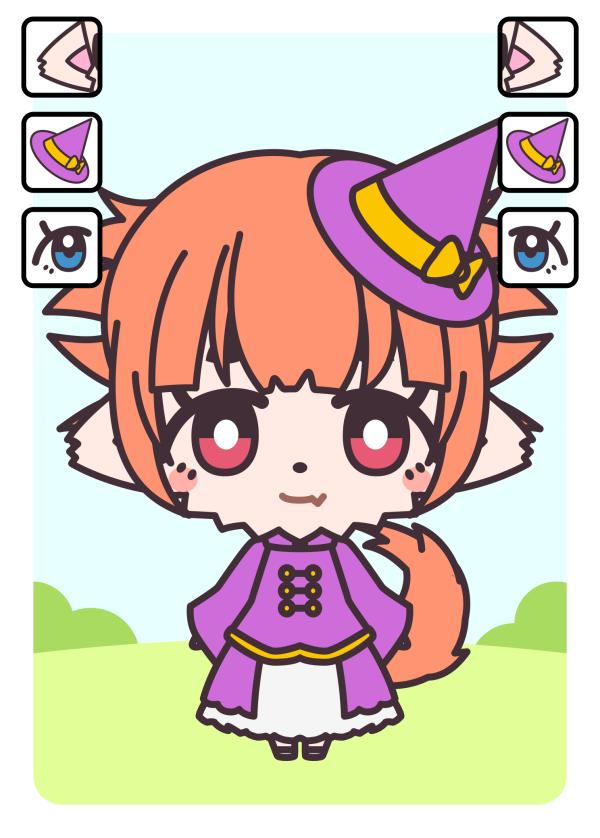 キャラクターカード:房耳族・魔術師・裸眼