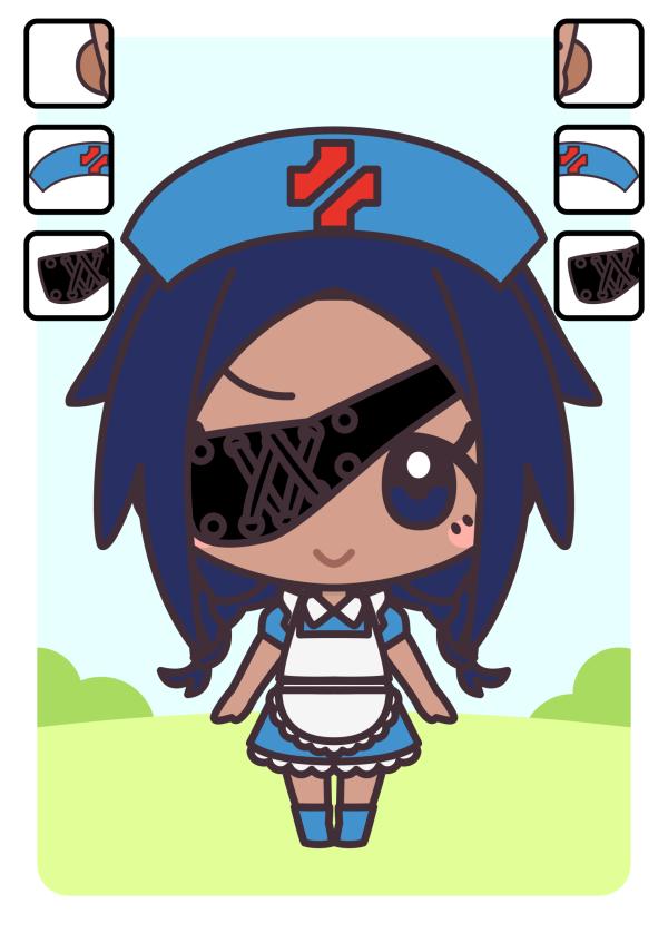 キャラクターカード:丸耳族・治癒師・眼帯