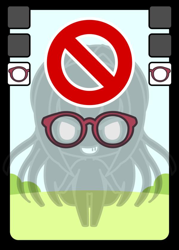 NGカード:メガネ
