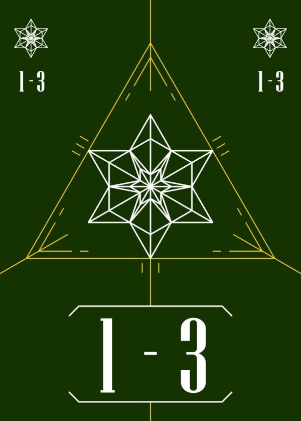 スートカード:星の1~3
