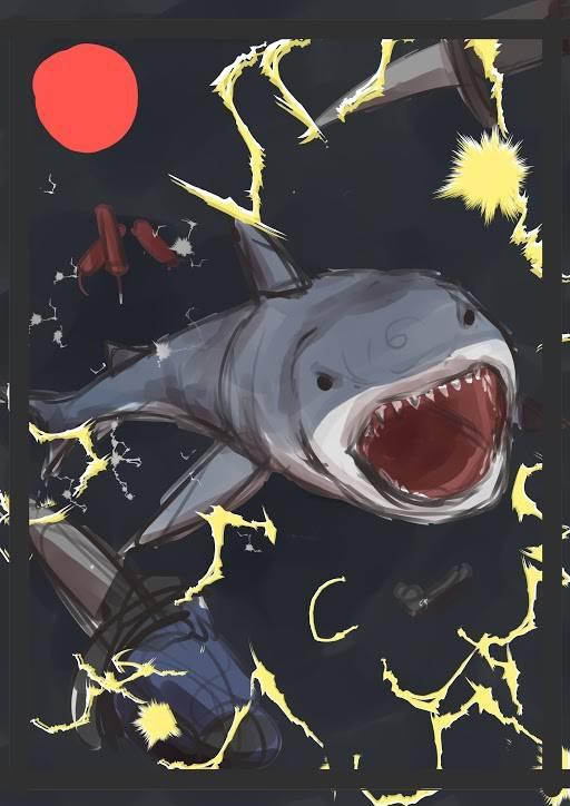 追加サメ ラフイラスト公開