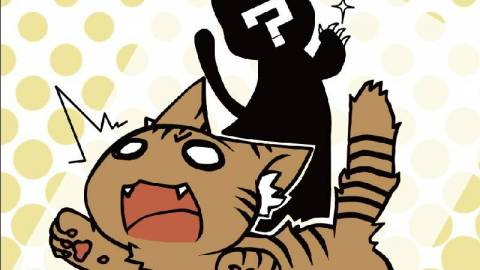 [にゃぁだぁみすてりぃ『猫が寝転んでトラブった』]